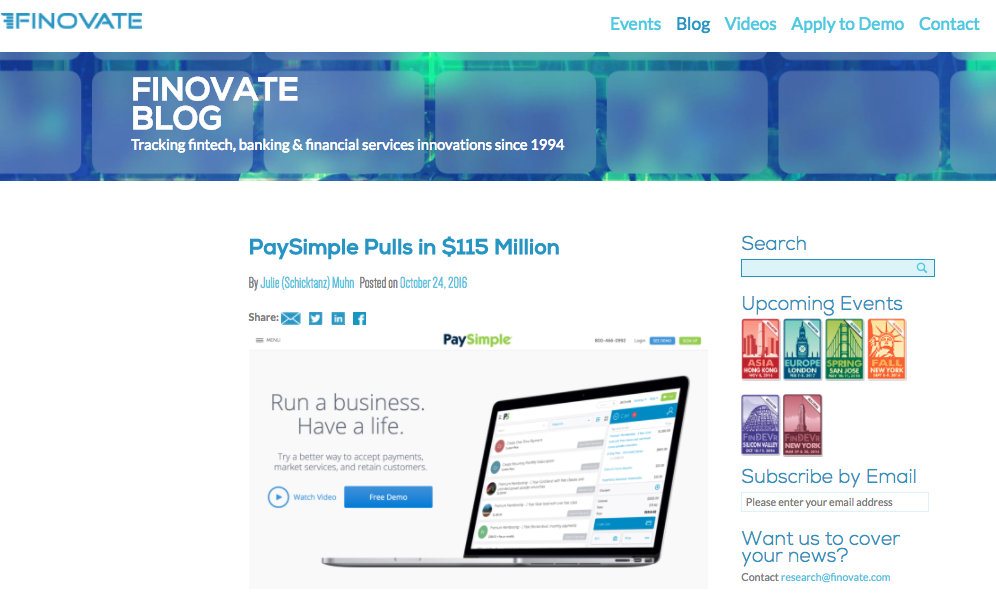 Finovate Blog